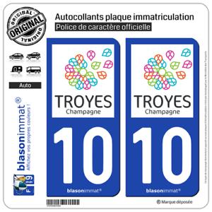 2 Stickers Autocollant Plaque Immatriculation : 10 Troyes - Tourisme Vente En Ligne Du Dernier ModèLe En 2019 50%