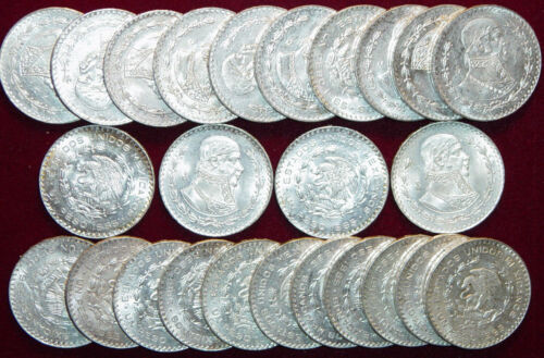 Mexican Un Peso BIG 34mm Brilliant Uncirculated Silver Mexico Un Peso Coin ~/>