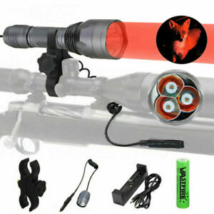 4000LM Red Green White LED Flashlight Hunting Lights Lamp Torch Rifle Gun Mount