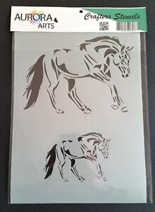 Stag Head 190mic Mylar craft stencil 016 29x21cm Stencil by Aurora Arts A4