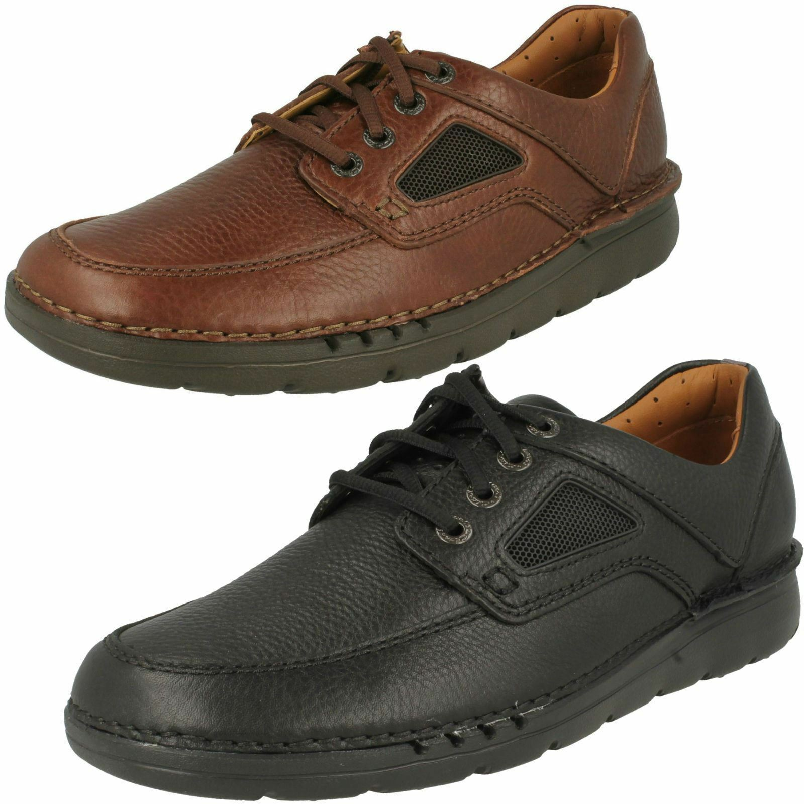 Da Uomo Clarks Unstructured stringati unnature tempo in pelle stringati Unstructured Casual Scarpe 0b6ca4