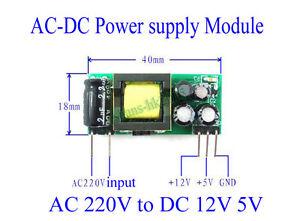 Ac Dc 220v To 12v 5v 250ma 200ma Isolated Step Down Buck