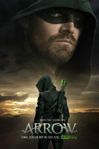 Arrow Season 8 Poster 27x40 24x36 Oliver Queen DC Comics Decor G420