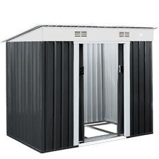 Deuba® Metall Gerätehaus Gartenhaus Geräteschuppen 2m² Schiebetür Fundament