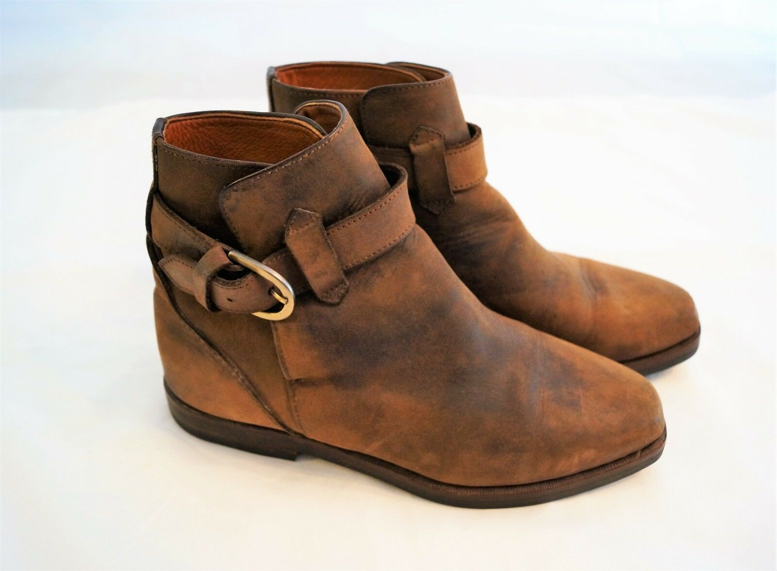 Cole Haan Womens Brown Bootie Boot Buckle Size 7M