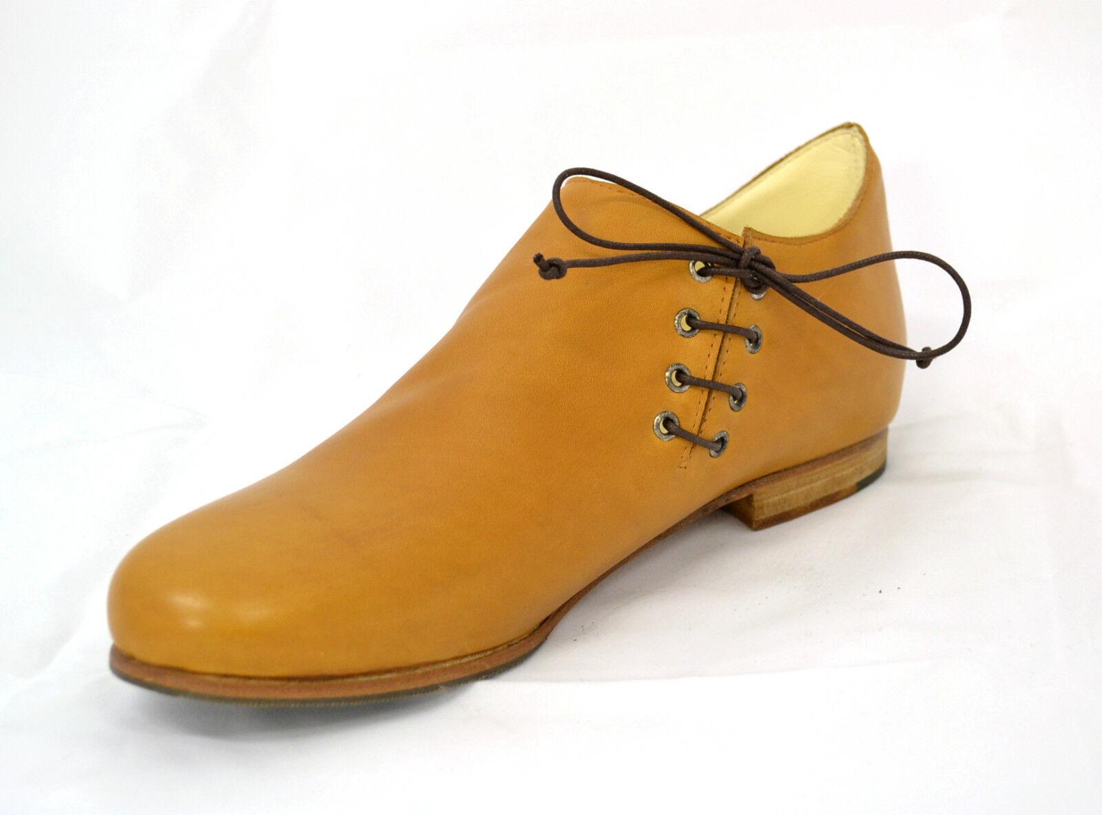 shoes men BAMBINO brown MADE ITALY MEDIO EVO RIEVOCAZIONI STORICHE COSPLAY