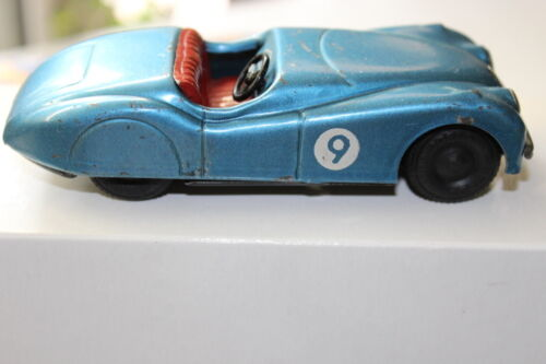 Scalex XK120 Jaguar Tinplate Car 1950's 132 scale keyless work