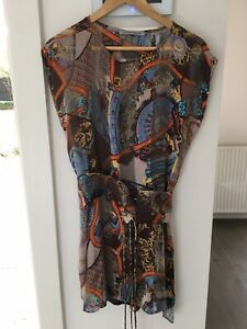 SCANLAN-And-THEODORE-Silk-Dress-With-Slip-Size-8-New-Without-Tags