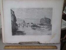 Vintage Print,MOLE OF ADRIAN,Rome,Francis Wey,1872