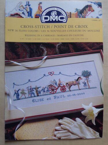 MARIAGE EN CALECHE § DMC grille point de croix cross stitch 12688L-22