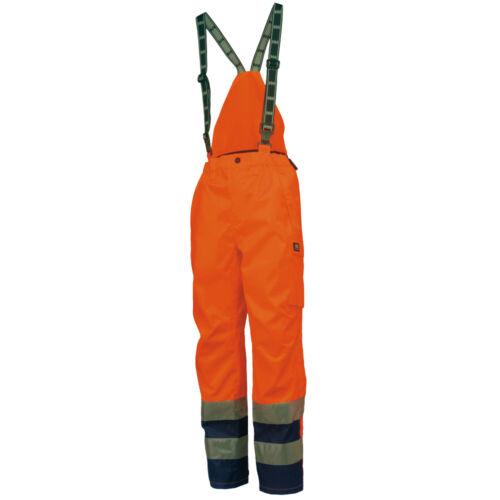 Helly Hansen Mens Potsdam Hi Vis Workwear Trouser Bib Dungarees