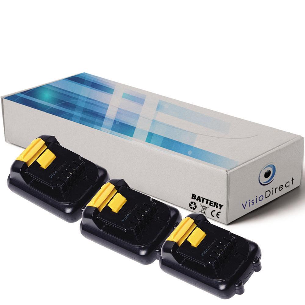 Lot de 3 batteries type DCB120 10.8V 1500mAh pour Dewalt