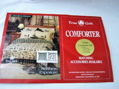 True Grit Wildlife Northern Exposure King Comforter Plus Bedskirt & 2 King Shams