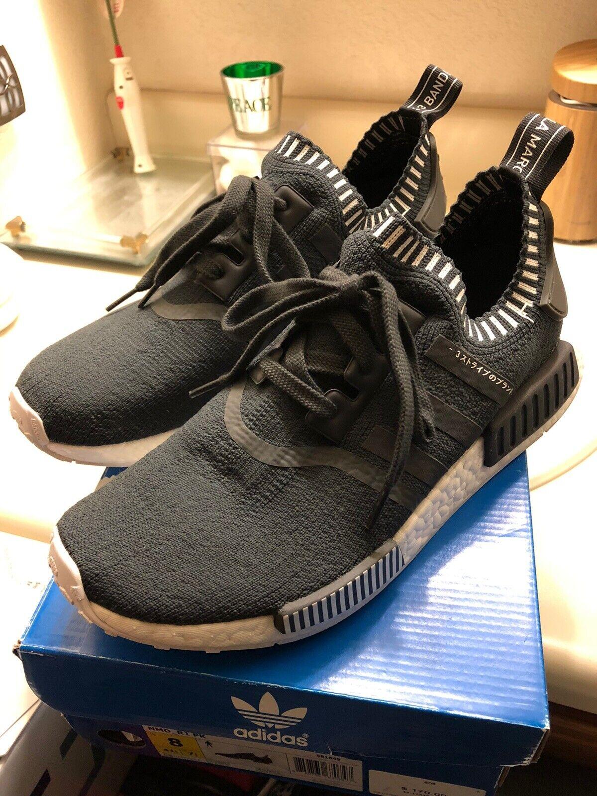 Adidas Nmd R1 Japan Boost Dark Grey Og Primeknit Uk 12 Us 12 5