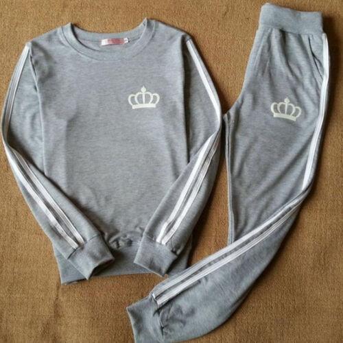 Womens Gym Yoga Tracksuit Sets Sweatshirt Jogger Fitness Pants Suit Loungewear a