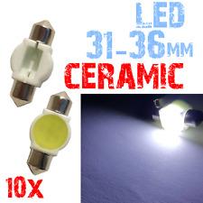 10x 31/36mm Lamp LED CERAMICS witte auto kenteken lamp HIGH 2A9 2C1.10.A XINO TU