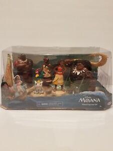 5 Figurine Moana DIsney Island Moana Maui tui Sina Pua Playset
