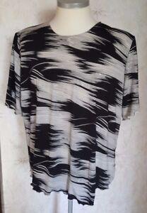 bianco corrisponde nero Camicette da gr camicia glitter donna Xxxl Gr Ma 50 a argento zUUIZBx