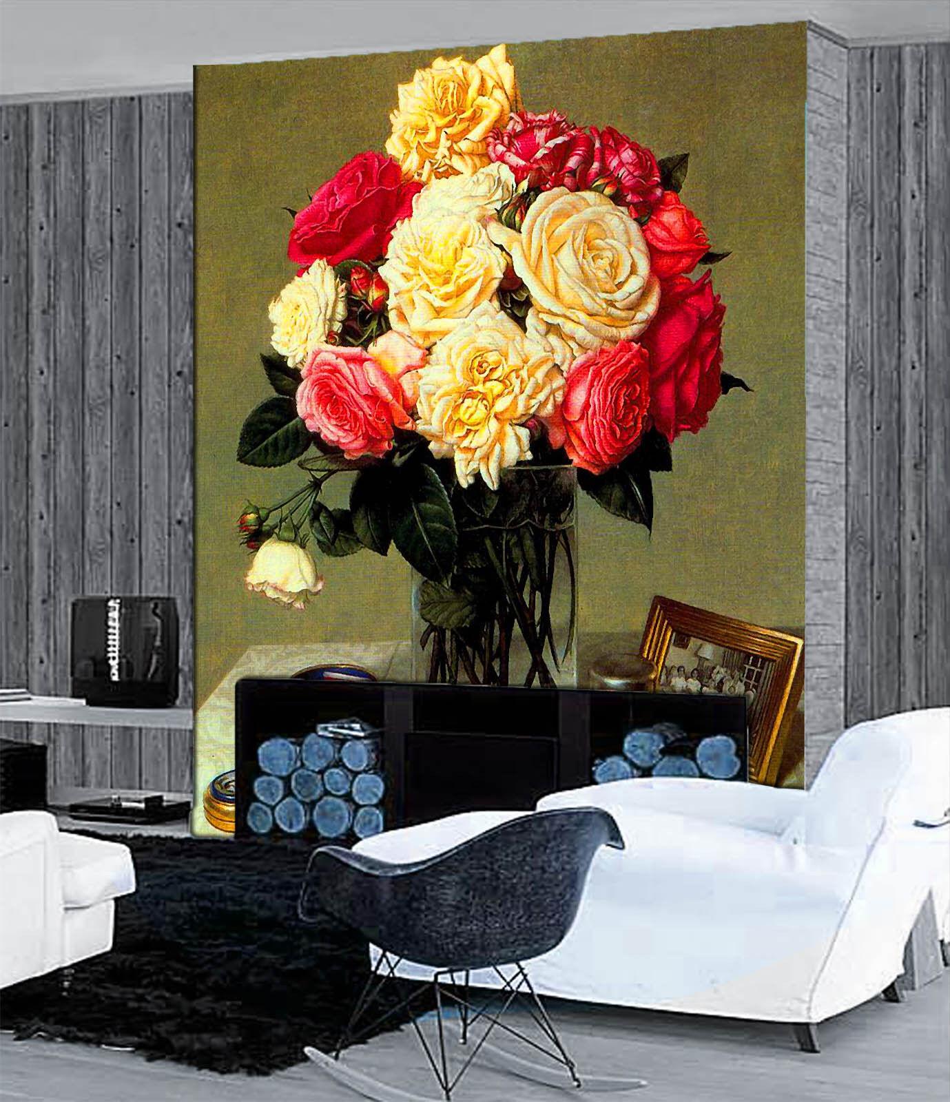 3D Vasen, bilderrahmen 7655 Fototapeten Wandbild Fototapete BildTapete Familie