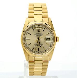 54d8274785d La foto se está cargando 1990-Rolex-Presidente-18K-Oro-Amarillo-18238-36-
