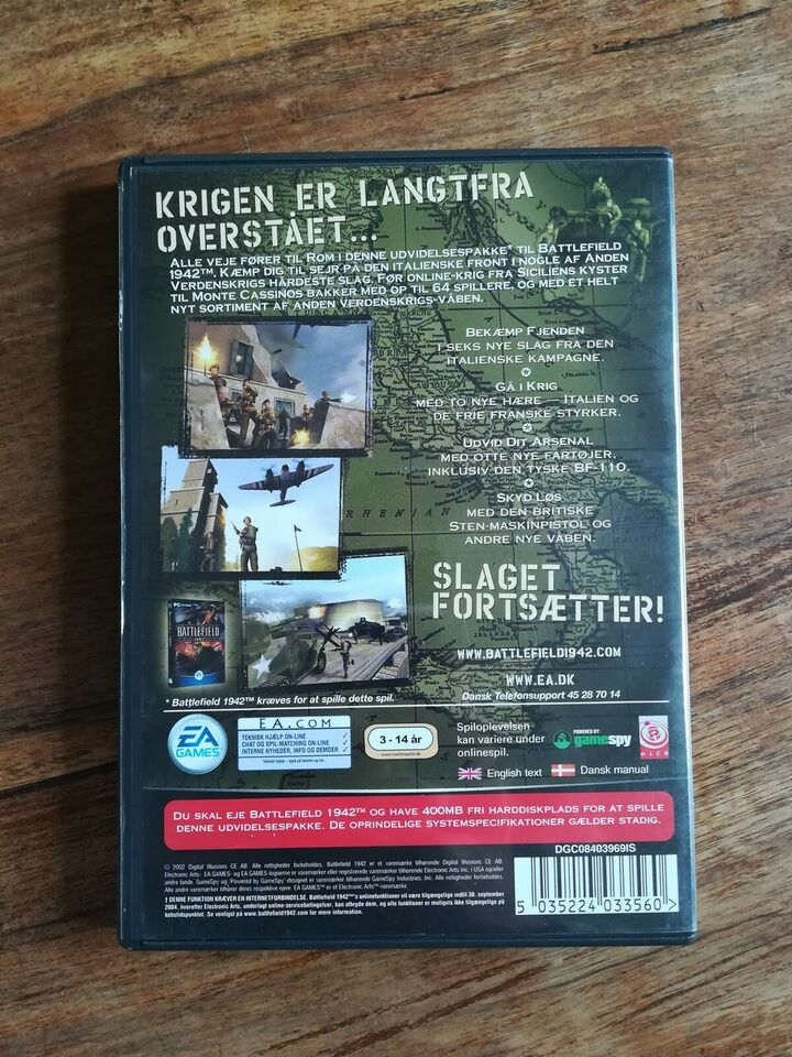 Battlefield 1942 road to Rome, til pc, First person shooter