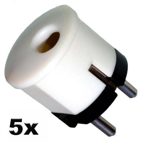 5x Stecker Schuko Kontakt Schutzkontakt Schukostecker DDR Erzeugnis bis 250V 10A