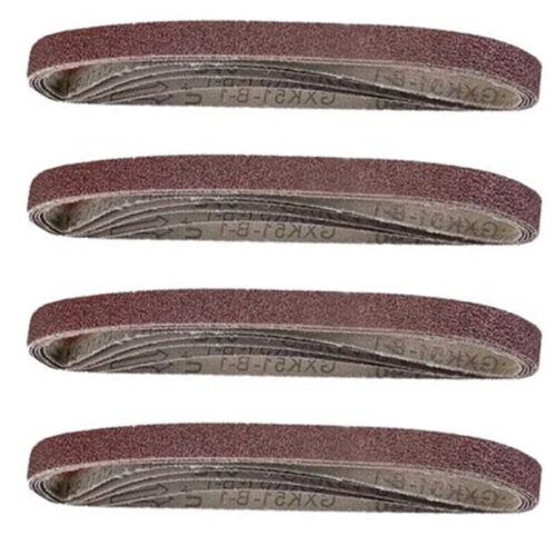 13*457mm Assorti Ponçage Ceinture Dair Doigt Sander Belt 40//60//80//120 Grain