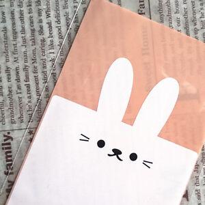 50 Piezas De Dibujos Animados Conejo Galleta Embalaje Transparente