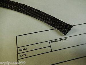 Braided Sleeving - Black 200' Spool Rayx Engineering,Wire Harness Covering,Loom