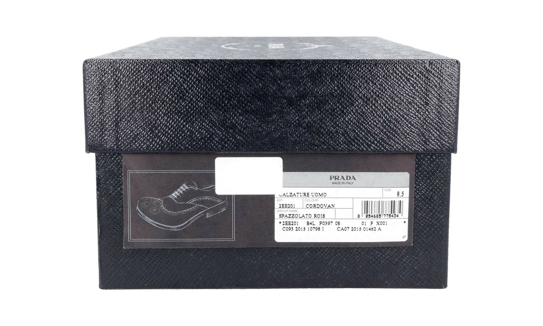 Zapatos PRADA LUXUEUX LUXUEUX LUXUEUX 2EE201 WINGTIP OXFORD BROGUE CORDOVAN 8,5 42,5 43 0b2813
