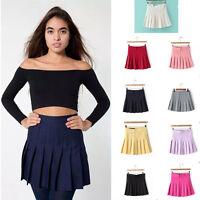 HOT Women's Retro High Waist Pleated Skirt Fashion Girls Short Mini Tennis Skirt