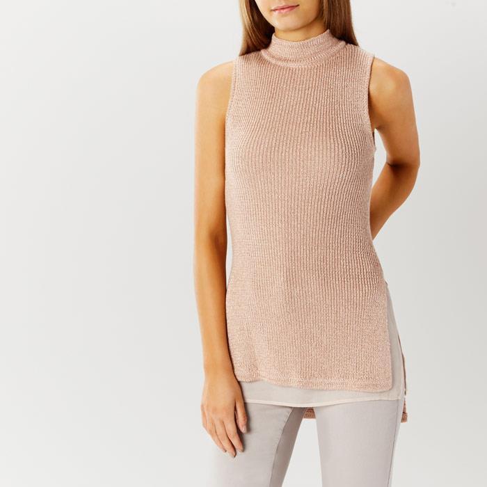 Coast - pink Sleeveless Knit Top - bluesh (Brand New with Tag) - Size L