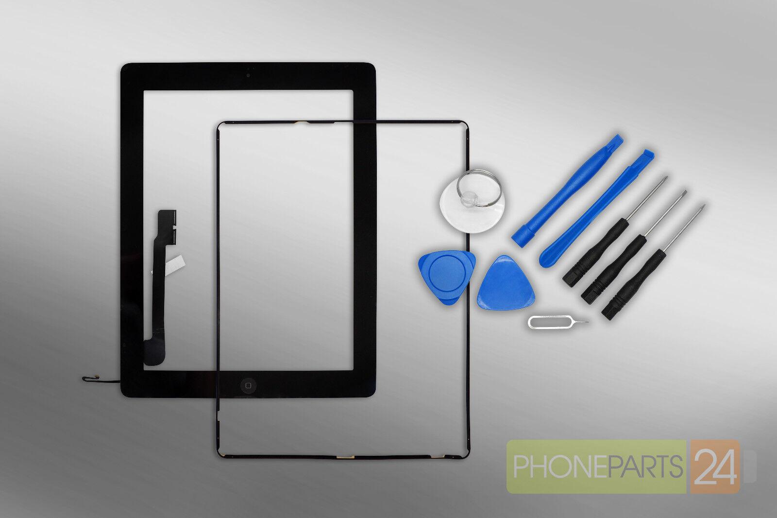 iPad 4 Digitizer Touchscreen Display schwarz + Home Button + Rahmen ...