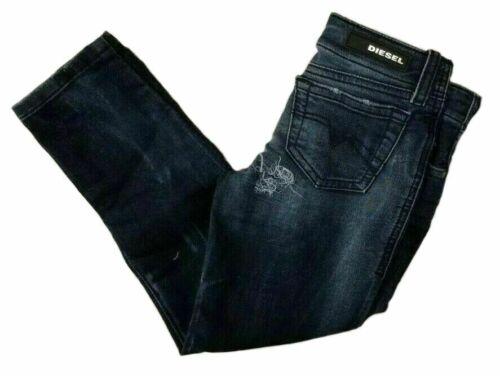 Diesel Kids Denim Jeans JoggJeans Pants Super Slim Skinny Dark Blue Distressed
