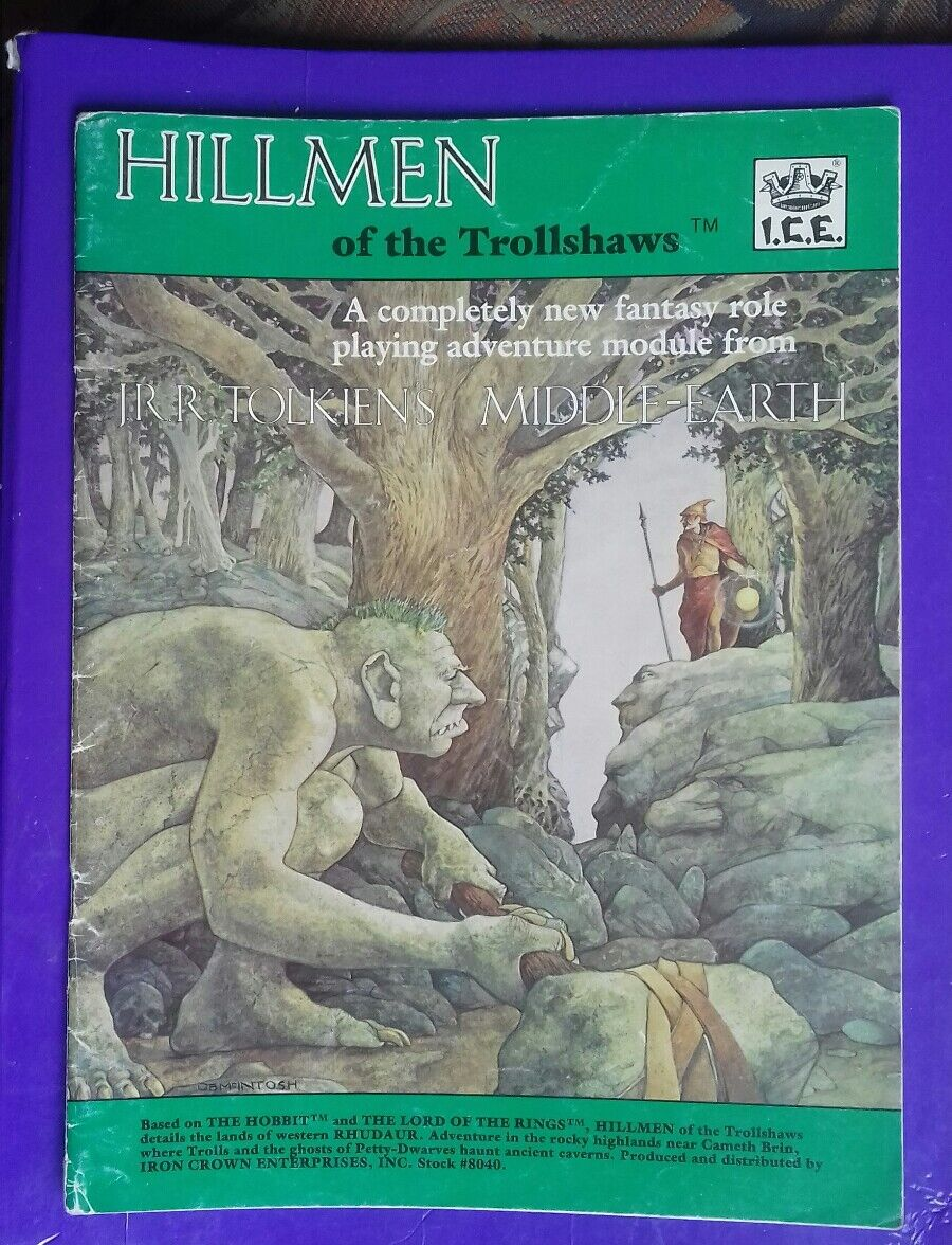 Hillmen of Trollshaws middle-earth MERP adventure module RPG  I.C.E