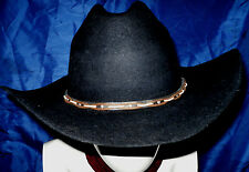 Men's Western Stores 4X Beaver Black Felt Cowboy Hat 7 1/2 Plus a Free Pin