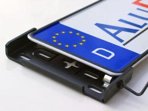 2 x AluFixx Car Premium schwarz matt eloxiert Kennzeichenhalter aus Aluminium