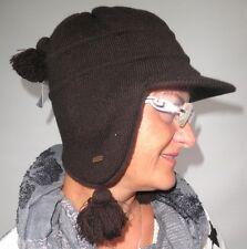Damenmütze Strickmütze von  McBurn Braun Damenmützen Wintermützen Damenhüte