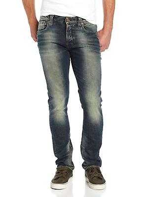 Nudie Donna & Uomo Unisex Slim Fit Jeans | Fara | Tim Org. Worn Crinkles-mostra Il Titolo Originale Eccellente (In) Qualità