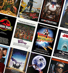 CLASSIC VINTAGE MOVIE POSTERS - A4 A3 A2 - HD Prints - Jurassic Park, Jaws, ET