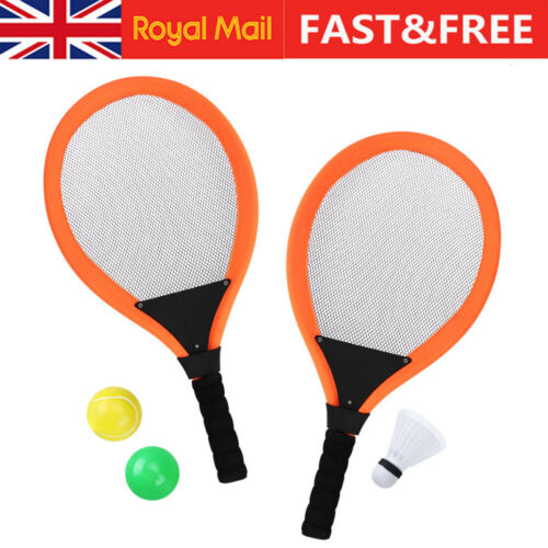 2 Pcs Badminton Tennis Racket and Balls Shuttlecock Mini Kids Outdoor Sports Toy