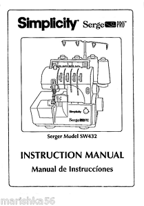 simplicity sw432 serger instruction book operating manual bonus rh ebay com simplicity vacuum instruction manual simplicity air conditioner instruction manual