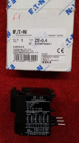 Eaton Electric Motorschutzrelais ZE 0,4 EAN 4015080143000 E.T.N
