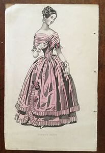 c1841-Costume-Dinner-Dress-Coloured-Plate