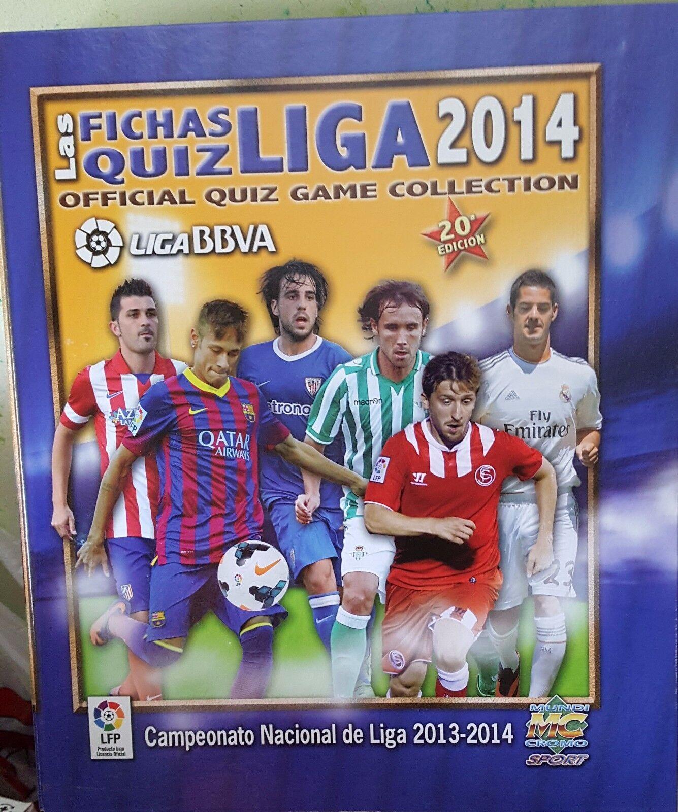 Las fichas Quiz de la Liga 2014 - Album completo