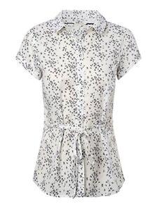 Ex-White-Stuff-White-Summer-Printed-Blouse-Top-Tunic-Shirt-Size-8-10-12-14-16