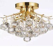 Crystal chandelier ,flush Mount,gold,4 Lights ,balls Pendant,new-Free Shipping