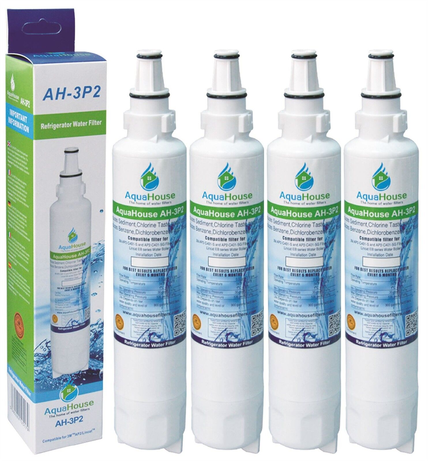 4x Compatible water filter for Burco Water Water Water Boiler ARK109 fits 3M AP2-C401-SG 17a591