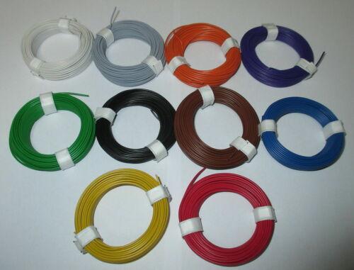 1m = 0,1195€ Litze  flexibel 18x0,10     10 Ringe a 10 Meter  *NEU*