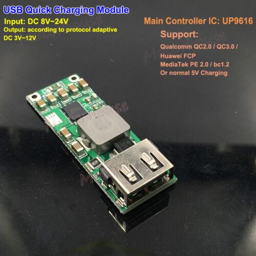 USB Car Quick Charge QC3.0 2.0 Fast Charging Phone Charger Module 9V-24V 5V 12V